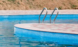 Ladder in the pool in the nature Stock Photography