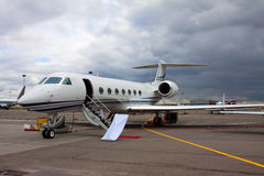 Ladder in a private jet Stock Photos