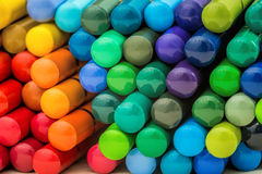 Ladder of rainbow pencils. Background of colorful rainbow wooden pencils mosaic Royalty Free Stock Photos