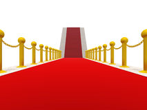 Ladder with a red carpet Stock Images