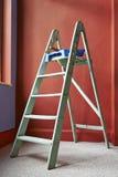 Ladder, roller brush, bucket Royalty Free Stock Photos