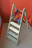 Ladder, roller brush, bucket Stock Image