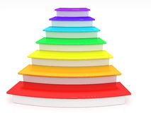 Ladder rungs with rainbow �3 Royalty Free Stock Image