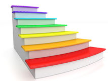 Ladder rungs with rainbow №1 Stock Photos