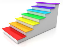 Ladder rungs with rainbow №6 Stock Photos