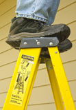 Ladder safety concept royalty free stock photography