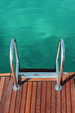 Ladder of a sailing yacht Stock Image