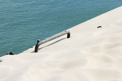 The ladder in the sand Royalty Free Stock Photo