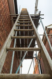Ladder and scaffolding Stock Image
