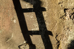 Ladder shadow Royalty Free Stock Photo
