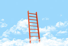Ladder showing the pathway. To the top Royalty Free Stock Photos