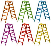 Ladder in six colors. Illustration vector illustration