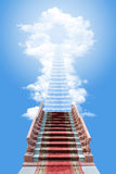 Ladder in the sky Royalty Free Stock Image