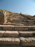 Ladder in the sky. Stone ladder in Hierapolis (Turkey royalty free stock photography
