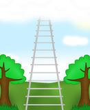 Ladder in the sky Stock Photo