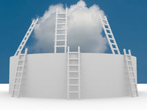 Ladder in the sky - Conceptual image Stock Photo