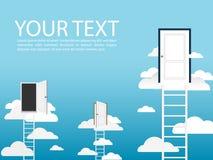 Ladder sky door vector Royalty Free Stock Photography