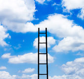 Ladder and sky Royalty Free Stock Photography