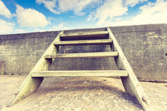 Ladder into sky stock images