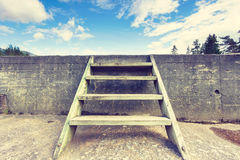 Ladder into sky royalty free stock photography
