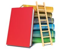 A ladder on stack of books Royalty Free Stock Photography