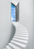 Ladder Stairs Heaven Door Freedom Blue Sky Stock Image