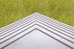 Ladder step on Green Grass Royalty Free Stock Images