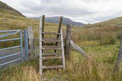 Ladder Stile style, North Wales Royalty Free Stock Image