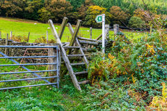 Ladder Stile style, North Wales Royalty Free Stock Images