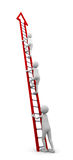 Ladder of Success. Concept representing a beginner to start climbing a ladder to follow the others Royalty Free Stock Photography