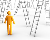 Ladder of Success. 3d rendered image on white background: Ladder of Success Royalty Free Stock Photos