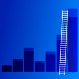 Ladder of success. The  ladder to take to reach the target. Concept success story of the business Stock Images