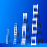 Ladder of success. The  ladder to take to reach the target. Concept success story of the business Royalty Free Stock Image