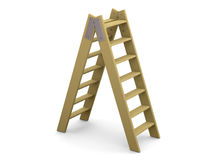 Ladder and Success Concept - 3D Royalty Free Stock Photography