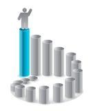 Ladder of success illustration design Stock Image