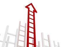 Ladder of success red arrow Royalty Free Stock Photography