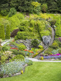 Ladder in Sunken Garden of Butchart Gardens Royalty Free Stock Images