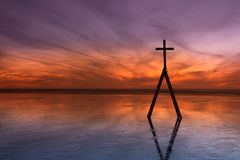 Ladder Sunset Cross Stock Photography