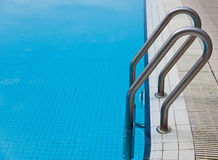 Ladder at a swimming pool Royalty Free Stock Photography