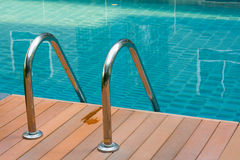 Ladder swimming pool Royalty Free Stock Photography