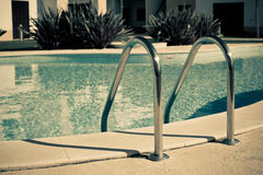 Ladder of a swimming pool Royalty Free Stock Images