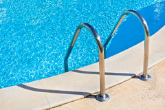 Ladder of a swimming pool Stock Images