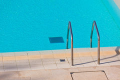 Ladder of a swimming pool Royalty Free Stock Photography