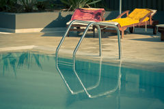 Ladder of a swimming pool Royalty Free Stock Photo