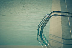 Ladder of a swimming pool Royalty Free Stock Image