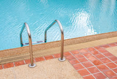 Ladder of swimming pool in summer time Stock Photography