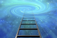 Ladder into swirling Space Stock Photo