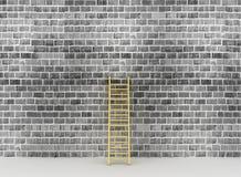 Ladder tegen dichtbij oude muur Stock Fotografie