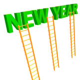 The ladder to 2010 new year. Celebration 3d render Royalty Free Stock Images