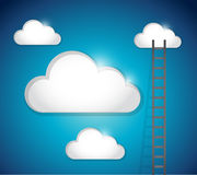 Ladder to cloud illustration design Royalty Free Stock Photos